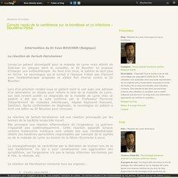 Compte rendu de la conférence sur la borréliose et co infections - Deuxième Partie - Maladie de Lyme chronique ou neuro borréliose