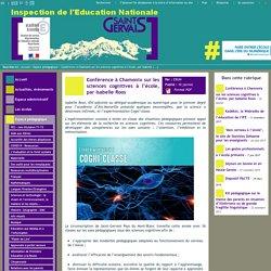IEN St Gervais / Pays du Mont-Blanc - Conférence à Chamonix sur les sciences cognitives à l'école, par Isabelle Roos