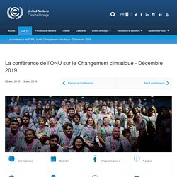 La conférence de l'ONU sur le Changement climatique - Décembre 2019