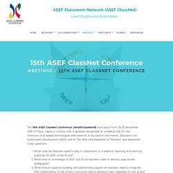 The 15th ASEF Classroom Network Conference (ASEF ClassNet15)