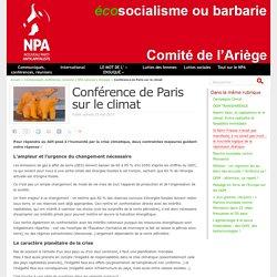 Conférence de Paris sur le climat