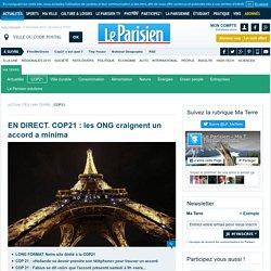Conférence Paris Climat 2015 - COP21 - Le Parisien Ma Terre