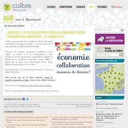 """[ Archives ] 10 places offertes pour la conférence Kaizen """"Économie collaborative"""", le 18 mars 2015"""