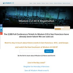Wisdom 2.0 Conference - Living with awareness, wisdom, and compassion - Register