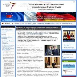 Conférence de presse conjointe - 12ème conseil des (...)