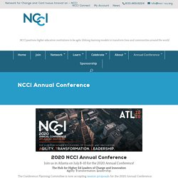 2020 Annual Virtual Conference - Network for Change and Continuous Innovation