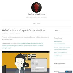 Web Conference Layout Customization