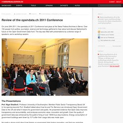 Review of the opendata.ch 2011 Conference on Datavisualization