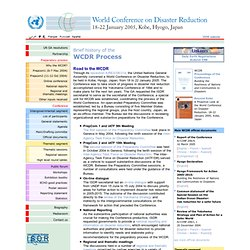 World Conference on Disaster Reduction - 18-22 January 2005, Kobe Hyogo, Japan