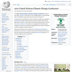2011 United Nations Climate Change Conference