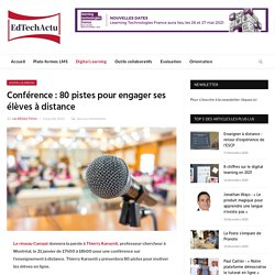 Conférence Réseau Canopé: 80 pistes pour engager ses élèves à distance