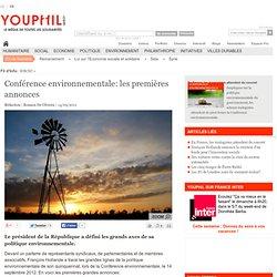 Conférence environnementale: les premières annonces