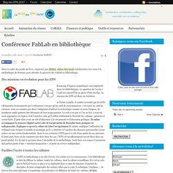 Conférence FabLab en bibliothèque