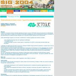 L'apport d'un SIG pour l'étude des bassins versants