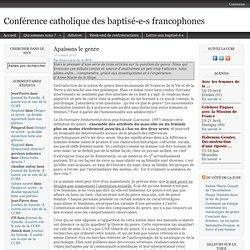 Conférence catholique des Baptisé-e-s Francophones