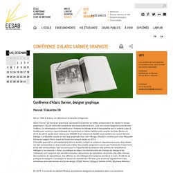 Conférence d'Alaric Garnier, Graphiste