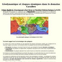 Conférence Géodynamique et risques sismiques dans le domaine Caraïbes