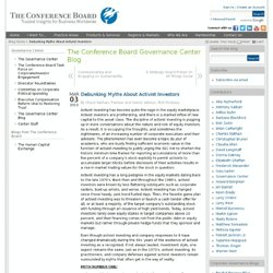 The Conference Board Governance Center Blog