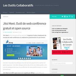 Jitsi Meet. Outil de web conférence gratuit et open source