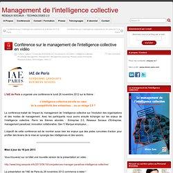 Conférence sur le management de l'intelligence collective en vidéo
