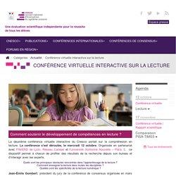 Conférence virtuelle interactive sur la lecture