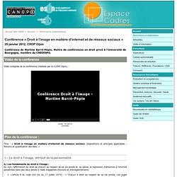 Conférence « Droit à l'image en matière d'internet et de réseaux sociaux » - CRDP de l'académie de Dijon