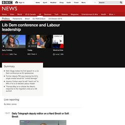 Lib Dem conference and Labour leadership