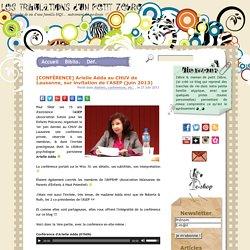 [CONFÉRENCE] Arielle Adda au CHUV de Lausanne, sur invitation de l'ASEP (juin 2013)