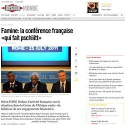 Famine: la conférence française «qui fait pschiiitt»