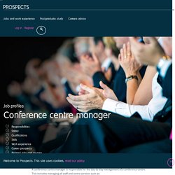Conference centre manager job profile