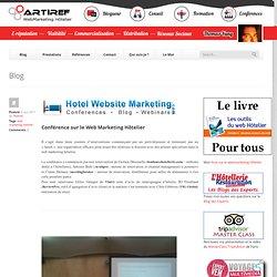 Conférence sur le Web Marketing Hôtelier