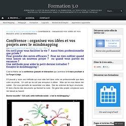 Conférence : organisez vos idées et vos projets avec le mindmapping