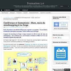 Conférence et formations : Mars, mois du mindmapping à La Forge