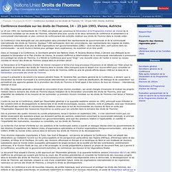 Conférence mondiale sur les droits de l'homme, 14 – 25 juin 1993, Vienne, Autriche