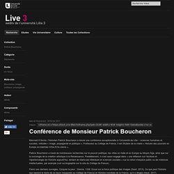 Conférence de Monsieur Patrick Boucheron - Web TV Live 3