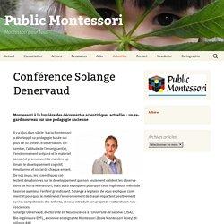 Conférence Solange Denervaud