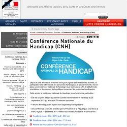 Conférence Nationale du Handicap (CNH)