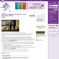 Conférence nationale du handicap : quel bilan depuis 2008 ?, . A la une, vie-publique.fr