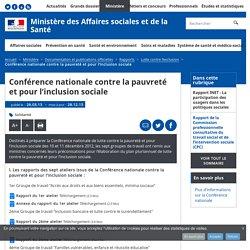 Conférence nationale contre la pauvreté et pour l'inclusion sociale - Lutte contre l'exclusion - Ministère des Affaires sociales et de la Santé