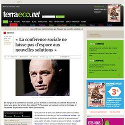 « La conférence sociale ne laisse pas d'espace aux nouvelles solutions »