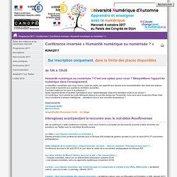 Conférence inversée « Humanité numérique ou numérisée ? »