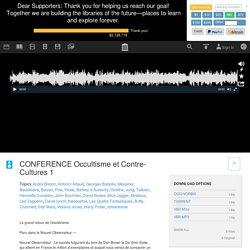 CONFERENCE Occultisme et Contre-Cultures 1