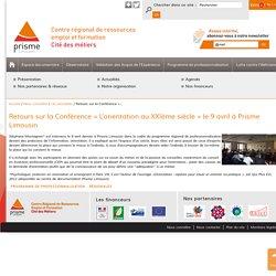Retours sur la Conférence « L'orientation au XXIème siècle » le 9 avril à Prisme Limousin