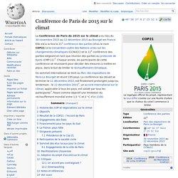Conférence de Paris de 2015 sur le climat Wikipédia