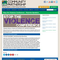Stop the Violence Conference – Keynote Speakers