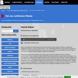 Conférence Patrick Dubost