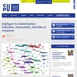 Expliquer la radicalisation : individus, interactions, identités et croyances