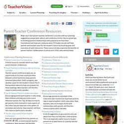 Parent-Teacher Conference Resources (Printables & Articles)