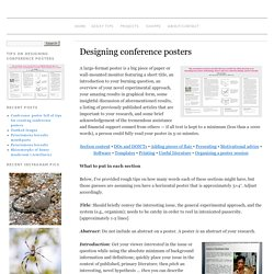 Designing conference posters » Colin Purrington
