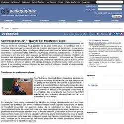 Quand l'EMI transforme l'école : conférence à Lyon